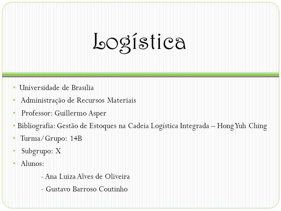 Logística Universidade de Brasília Administração de Recursos Materiais