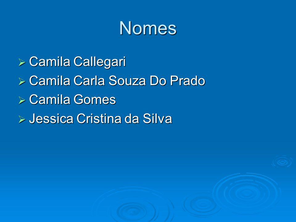 Nomes Camila Callegari Camila Carla Souza Do Prado Camila Gomes