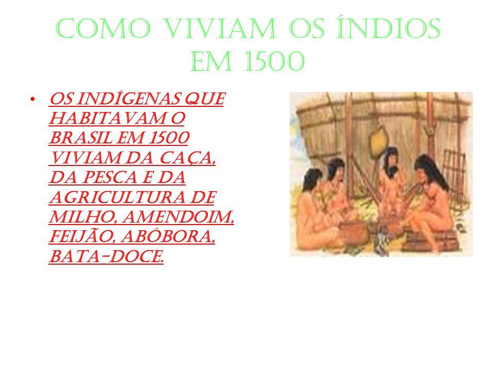 Como viviam os índios em 1500
