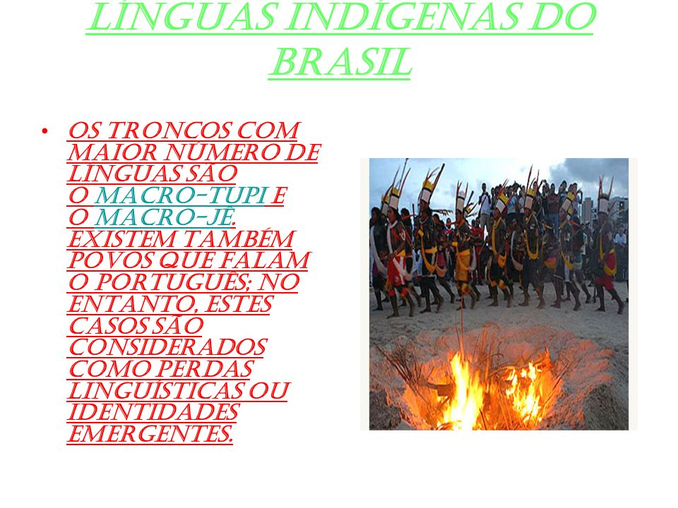 Línguas indígenas do Brasil