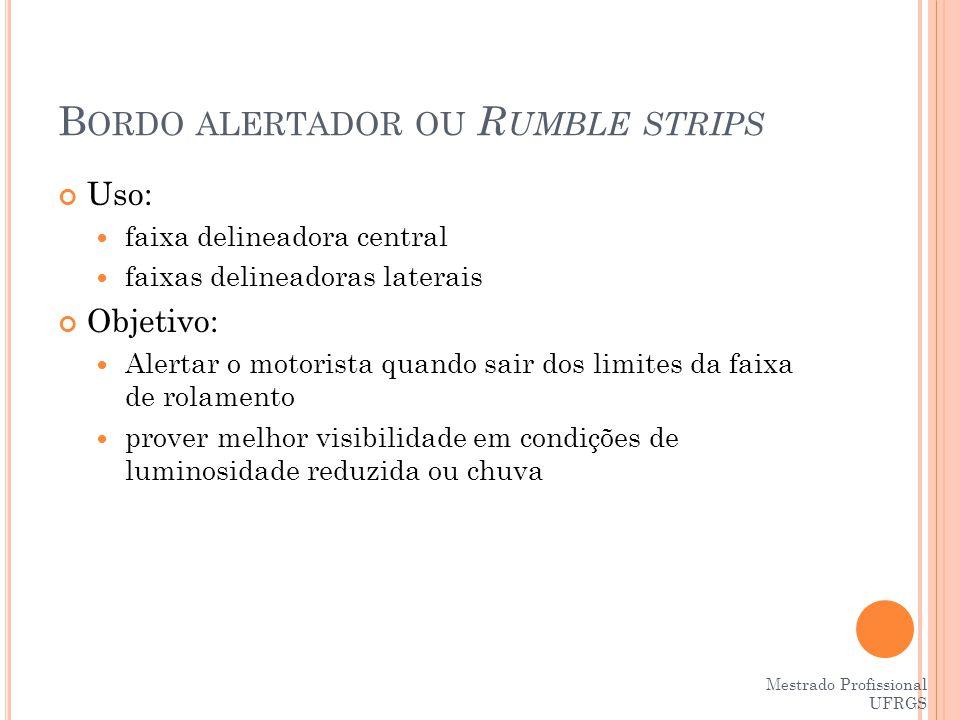 Bordo alertador ou Rumble strips