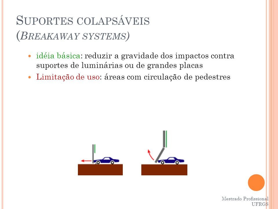 Suportes colapsáveis (Breakaway systems)