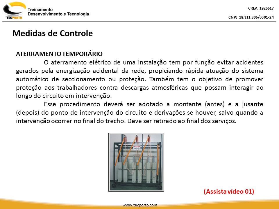 Medidas de Controle ATERRAMENTO TEMPORÁRIO
