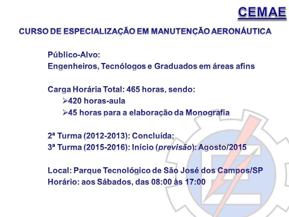 CEMAE Curso de ESPECIALIZAÇÃO EM MANUTENÇÃO Aeronáutica Público-Alvo: