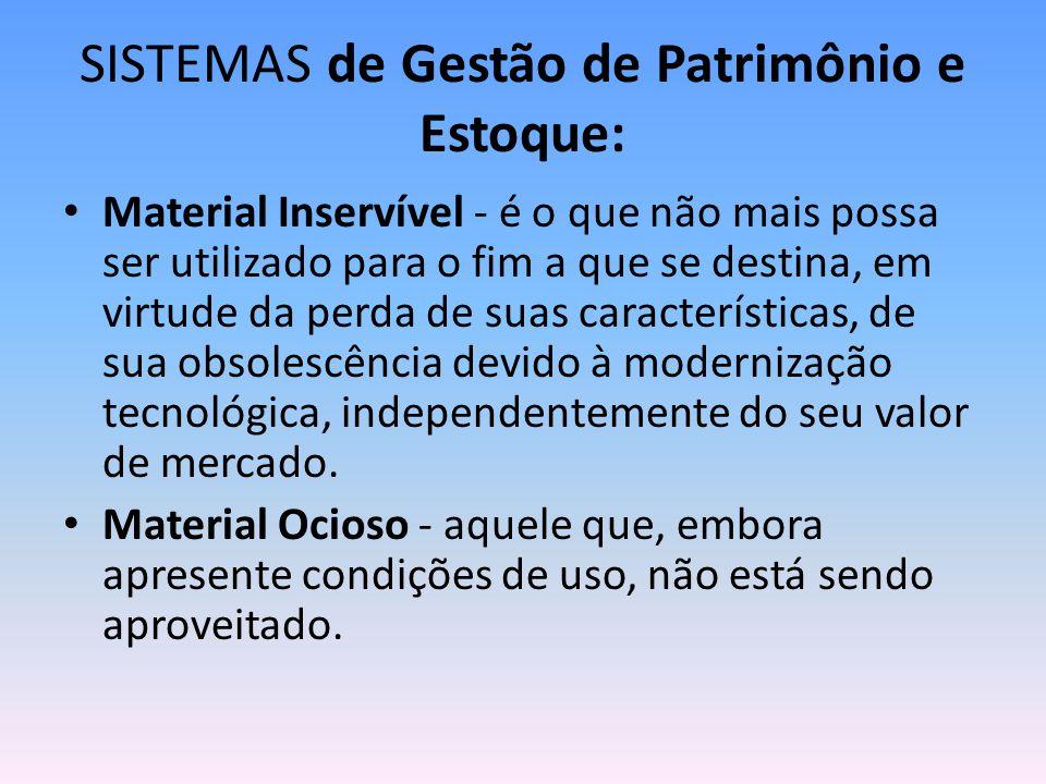 SISTEMAS de Gestão de Patrimônio e Estoque: