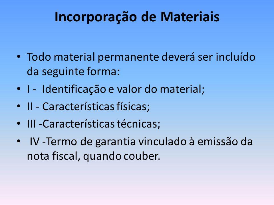 Incorporação de Materiais