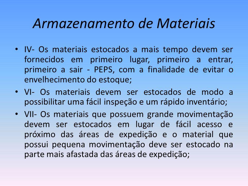 Armazenamento de Materiais