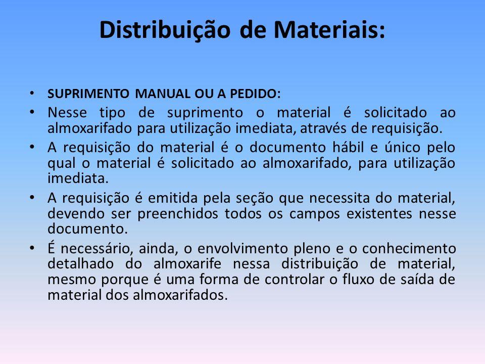 Distribuição de Materiais: