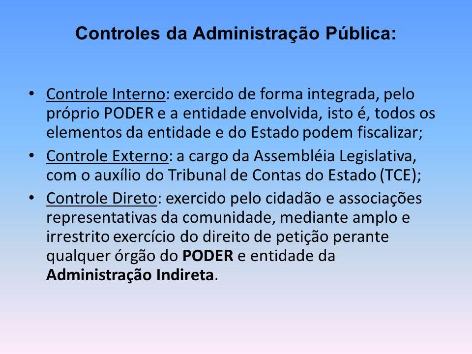 Controles da Administração Pública: