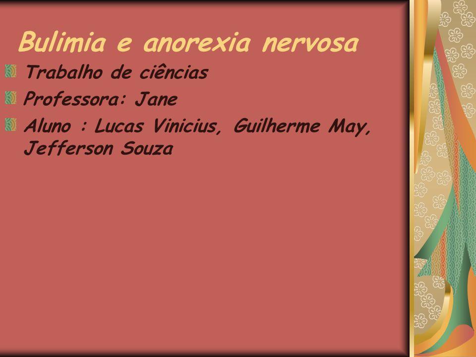 Bulimia e anorexia nervosa