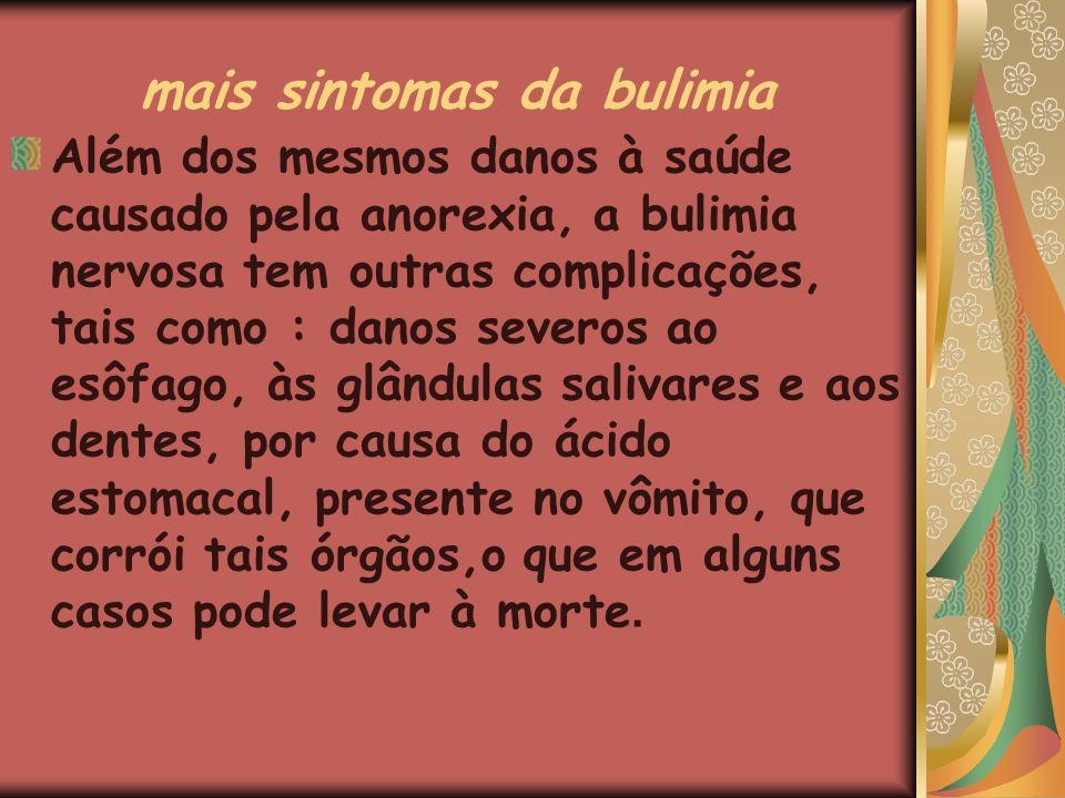 mais sintomas da bulimia
