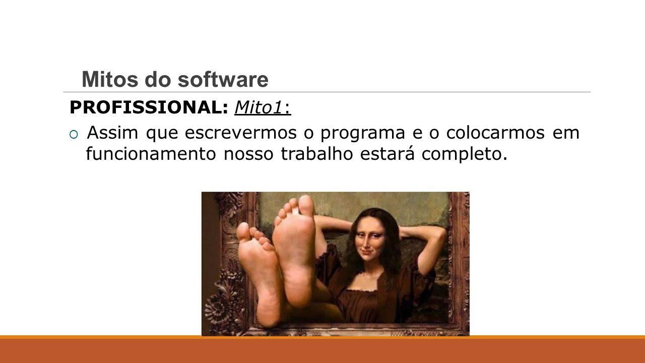 Mitos do software PROFISSIONAL: Mito 1: