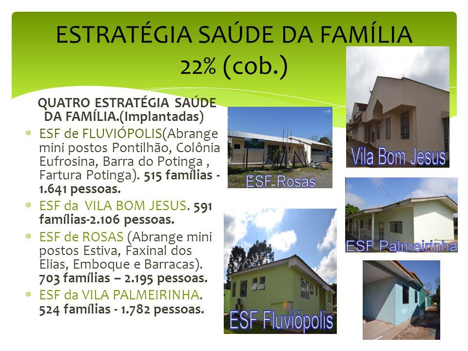 ESTRATÉGIA SAÚDE DA FAMÍLIA 22% (cob.)