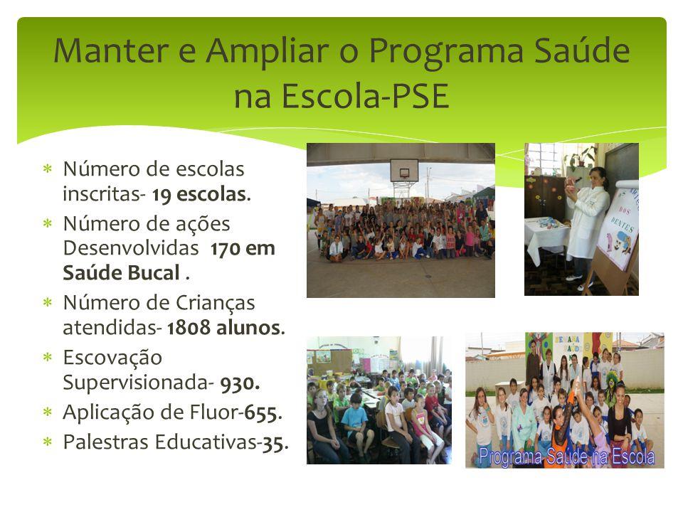 Manter e Ampliar o Programa Saúde na Escola-PSE