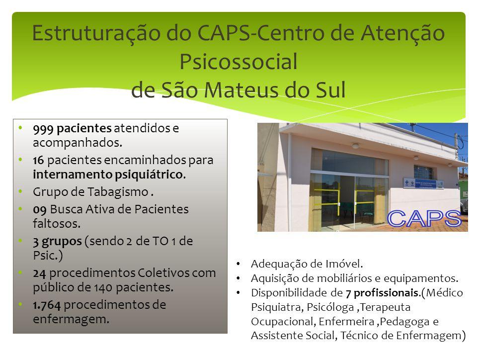 Estruturação do CAPS-Centro de Atenção Psicossocial de São Mateus do Sul