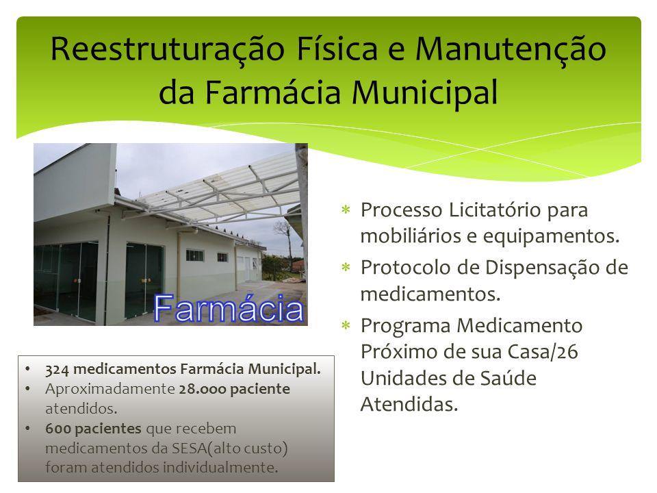 Reestruturação Física e Manutenção da Farmácia Municipal