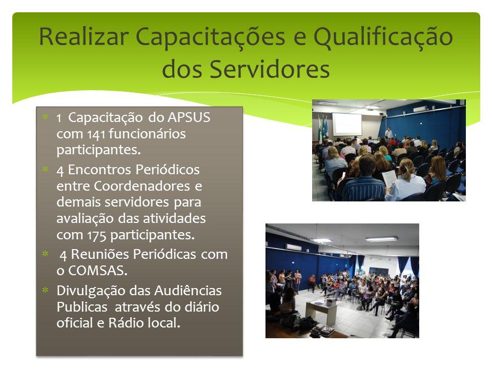 Realizar Capacitações e Qualificação dos Servidores