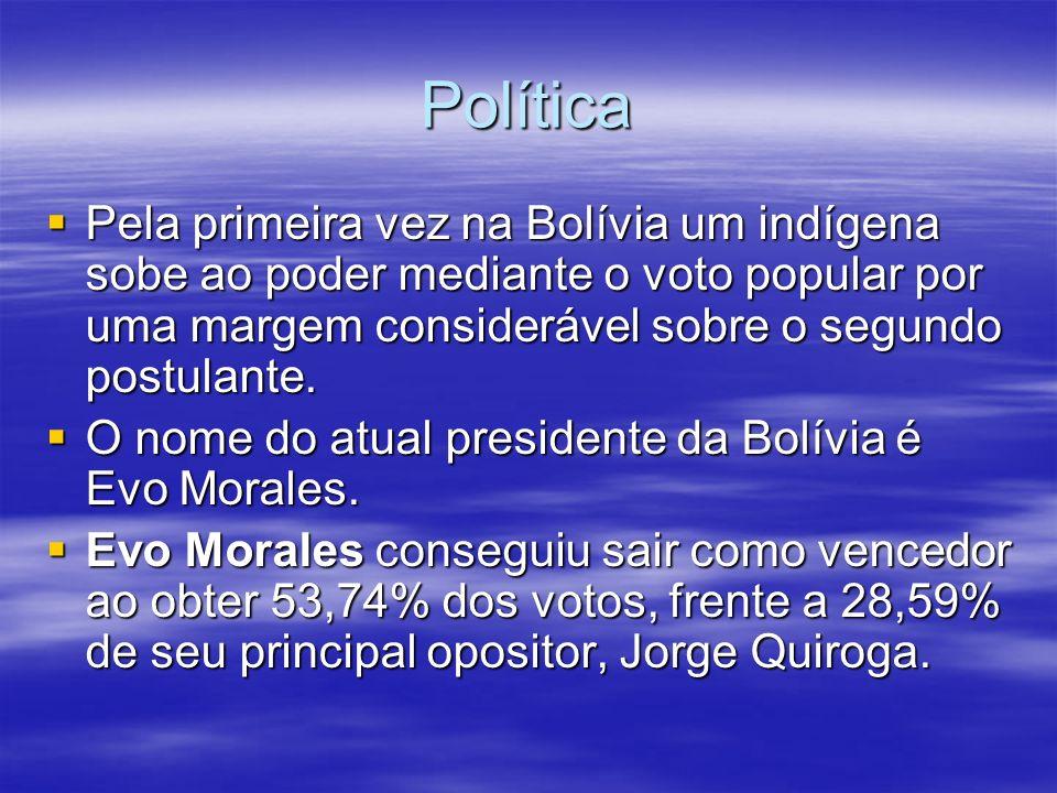 PolíticaPela primeira vez na Bolívia um indígena sobe ao poder mediante o voto popular por uma margem considerável sobre o segundo postulante.