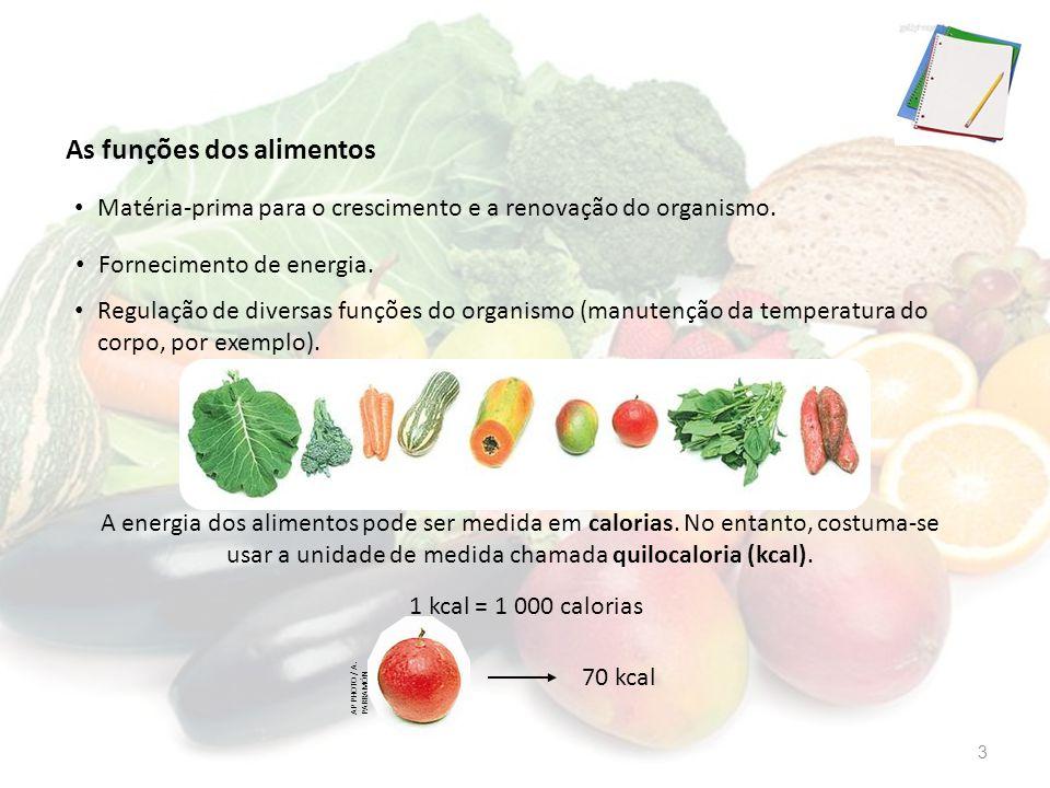 As funções dos alimentos