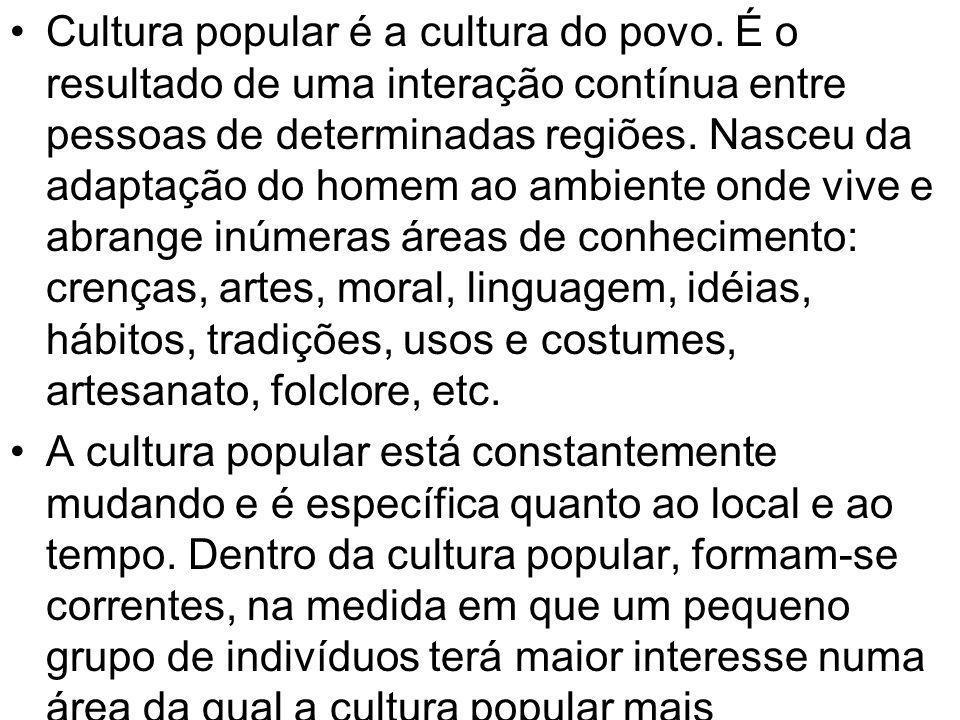 Cultura popular é a cultura do povo