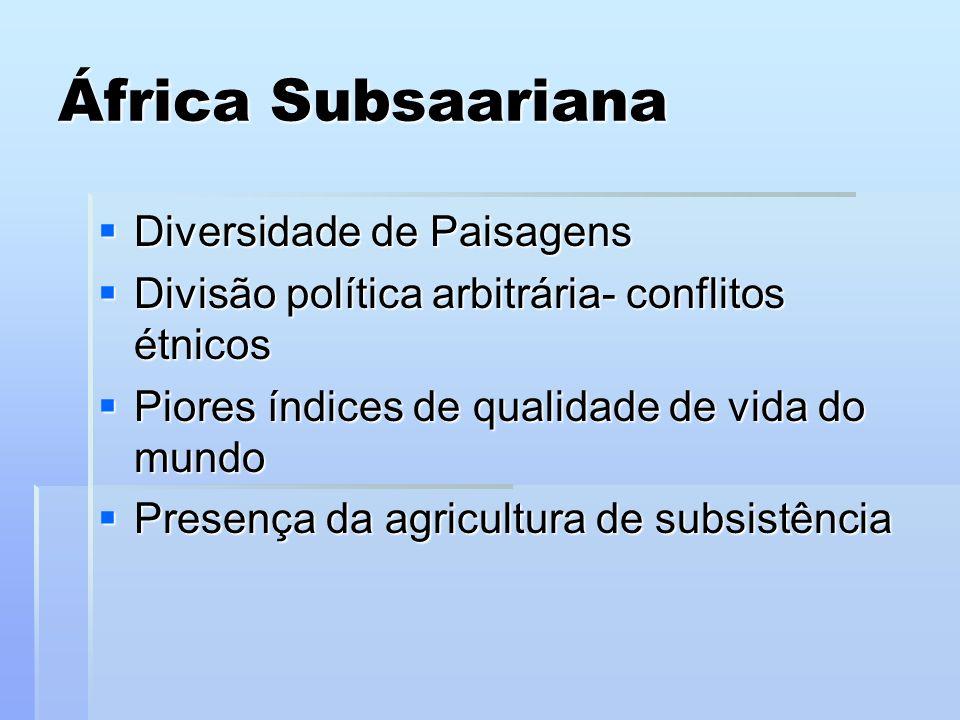 África Subsaariana Diversidade de Paisagens