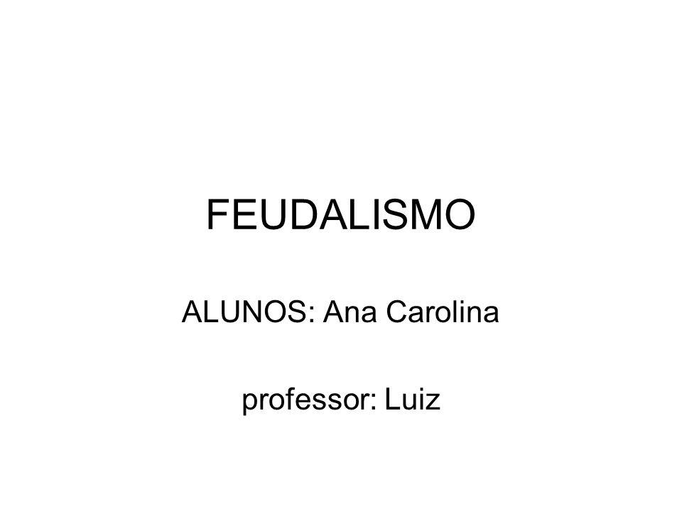 ALUNOS: Ana Carolina professor: Luiz