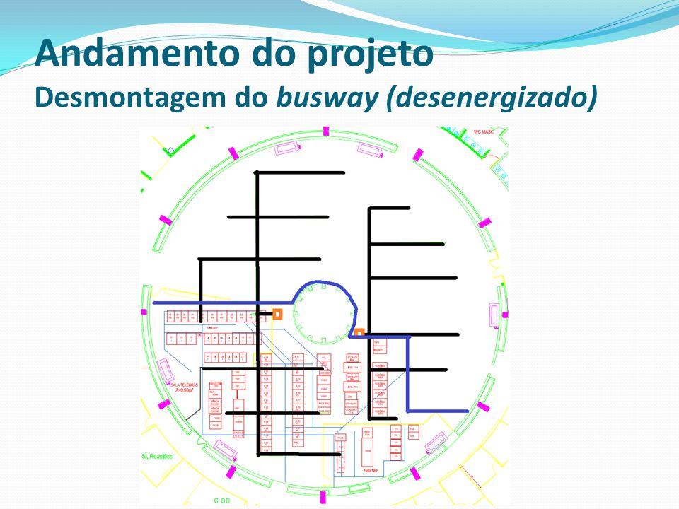 Andamento do projeto Desmontagem do busway (desenergizado)