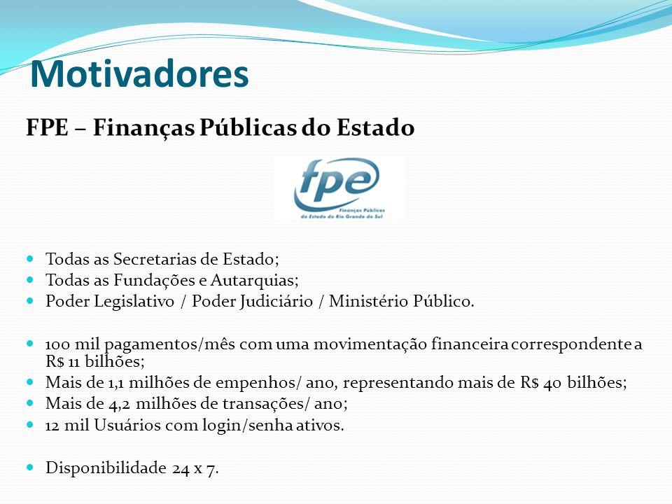 Motivadores FPE – Finanças Públicas do Estado