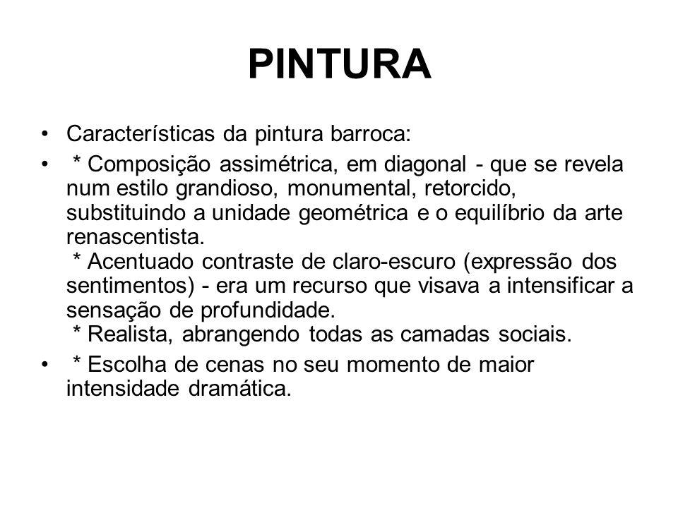 PINTURA Características da pintura barroca: