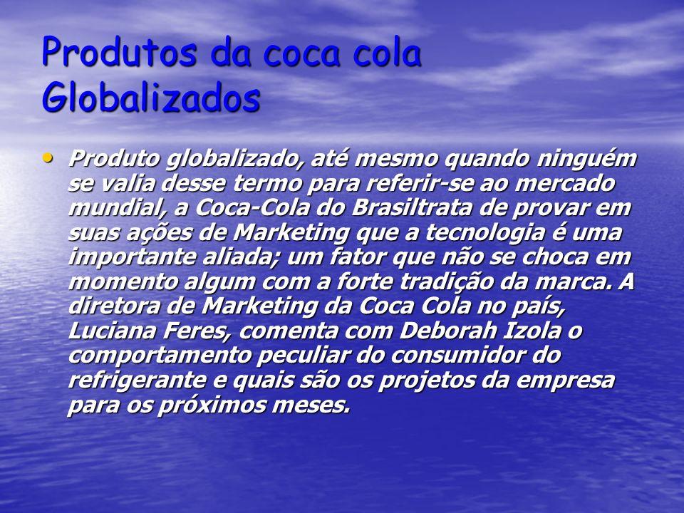 Produtos da coca cola Globalizados