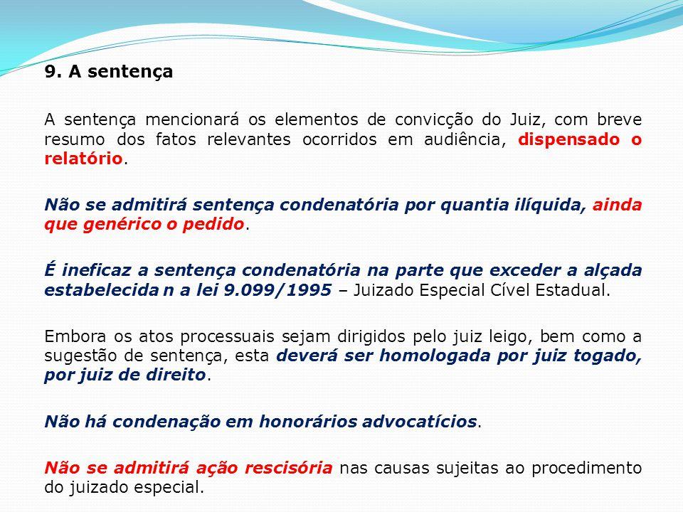 9. A sentença