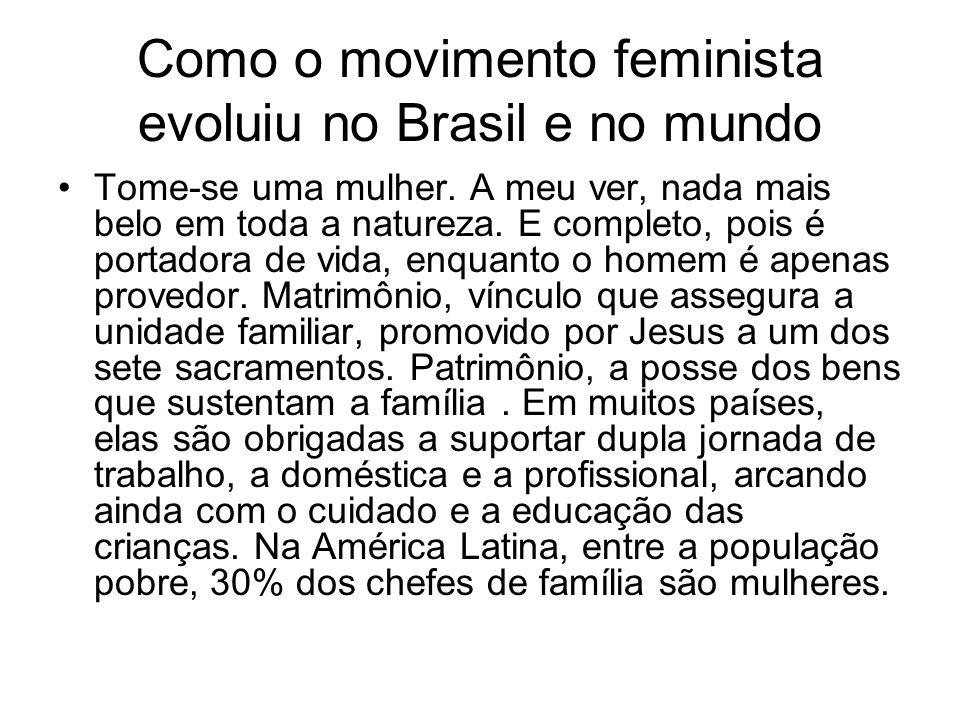 Como o movimento feminista evoluiu no Brasil e no mundo