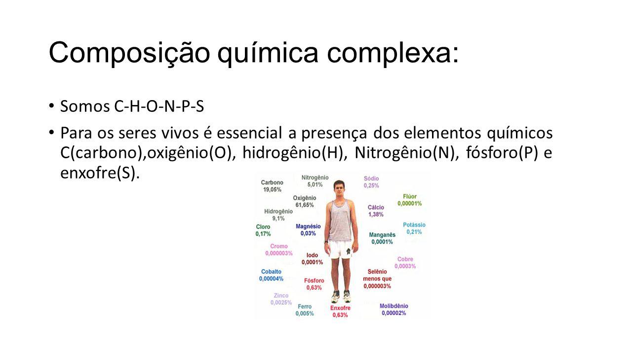 Composição química complexa: