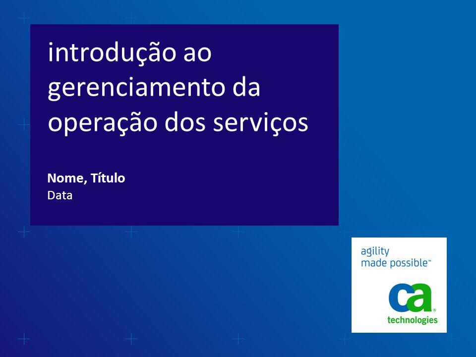 introdução ao gerenciamento da operação dos serviços