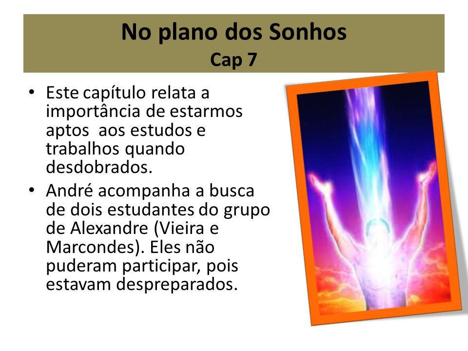 No plano dos Sonhos Cap 7 Este capítulo relata a importância de estarmos aptos aos estudos e trabalhos quando desdobrados.