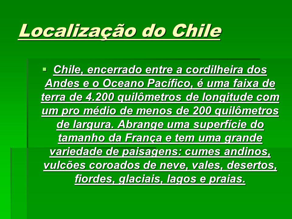 Localização do Chile