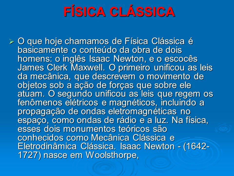 FÍSICA CLÁSSICA