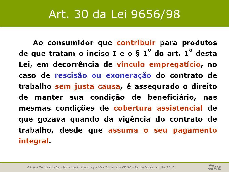 Art. 30 da Lei 9656/98