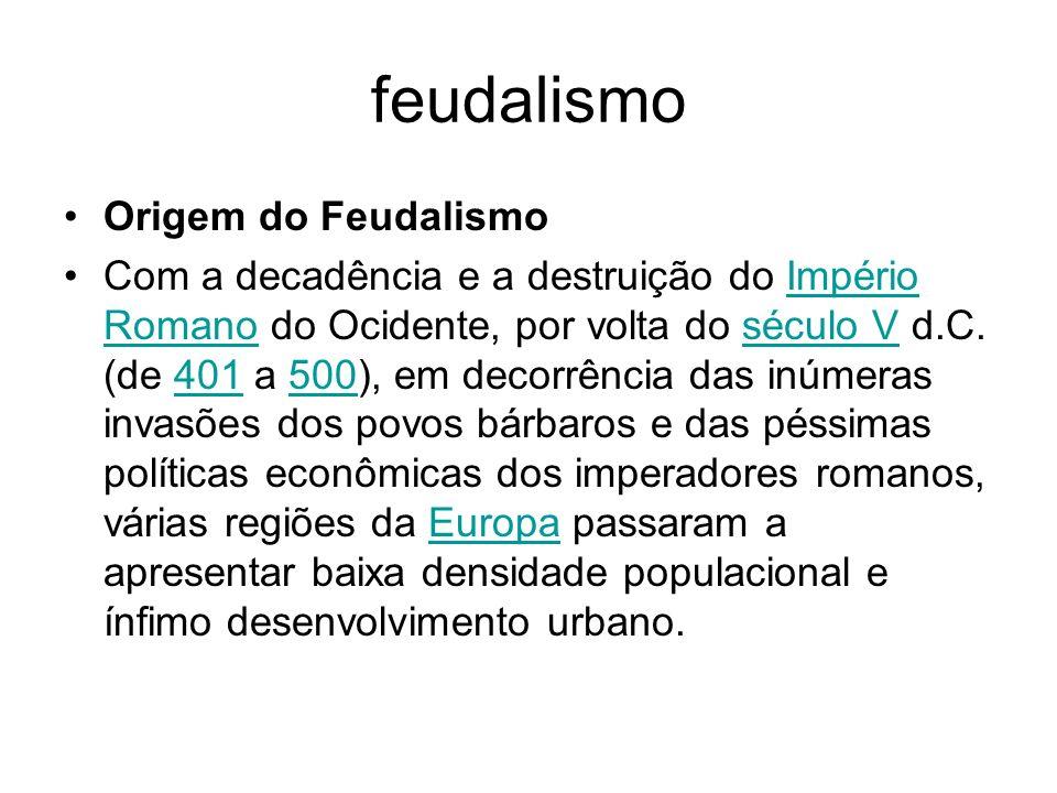 feudalismo Origem do Feudalismo