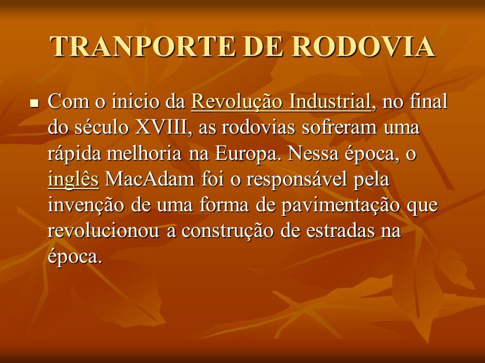 TRANPORTE DE RODOVIA