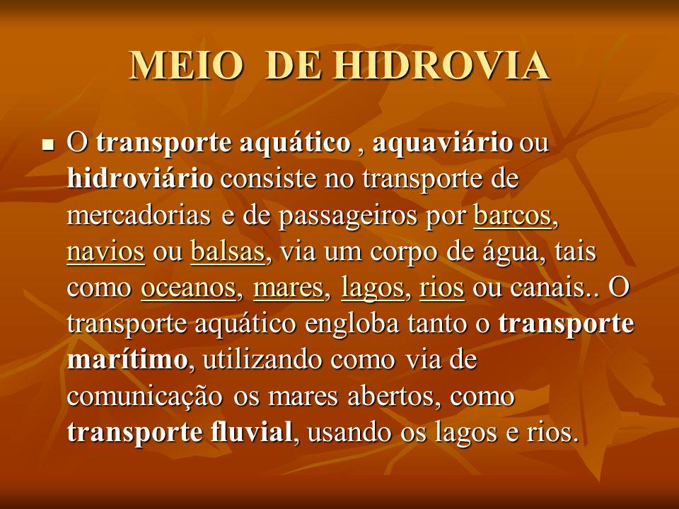 MEIO DE HIDROVIA