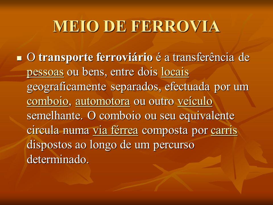 MEIO DE FERROVIA