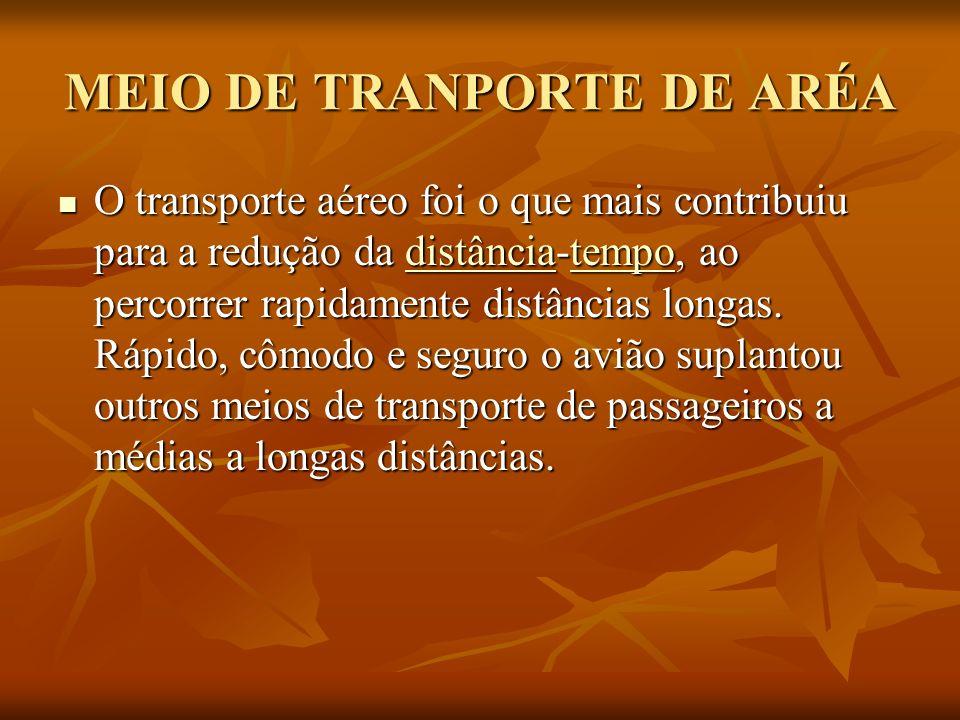 MEIO DE TRANPORTE DE ARÉA