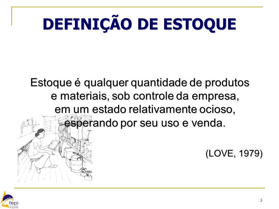 DEFINIÇÃO DE ESTOQUE