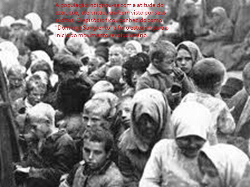 A população indignou-se com a atitude do czar, que, até então, era bem visto por seus súditos.