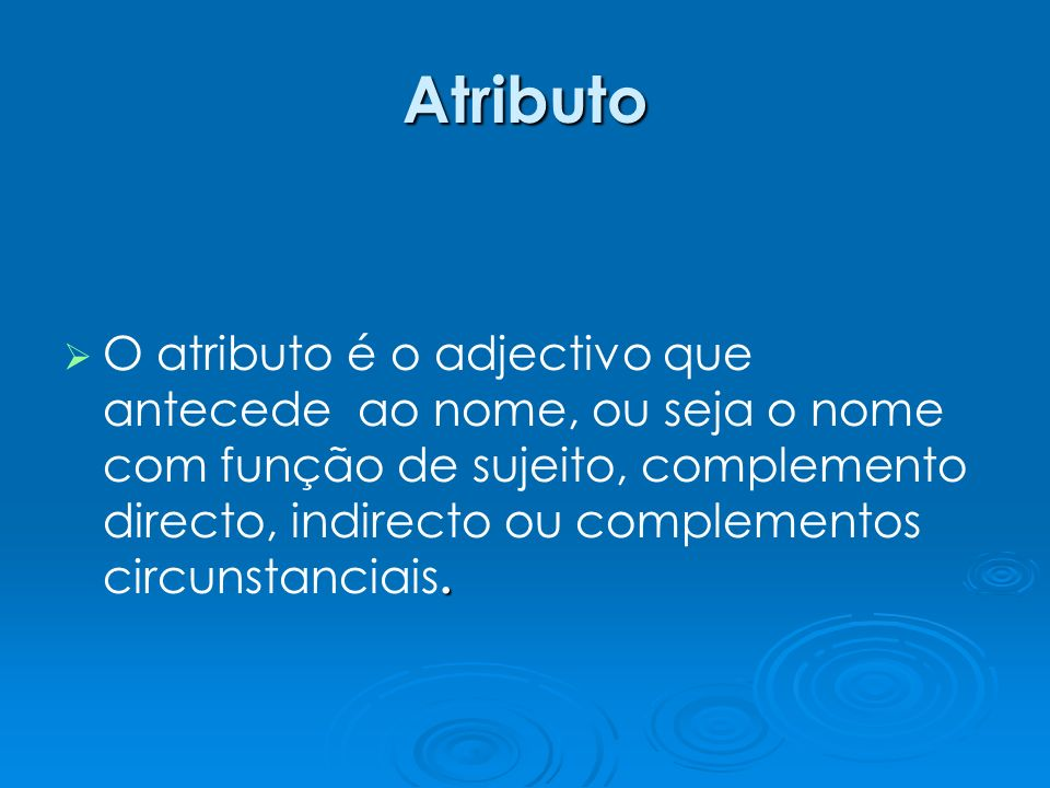 Atributo