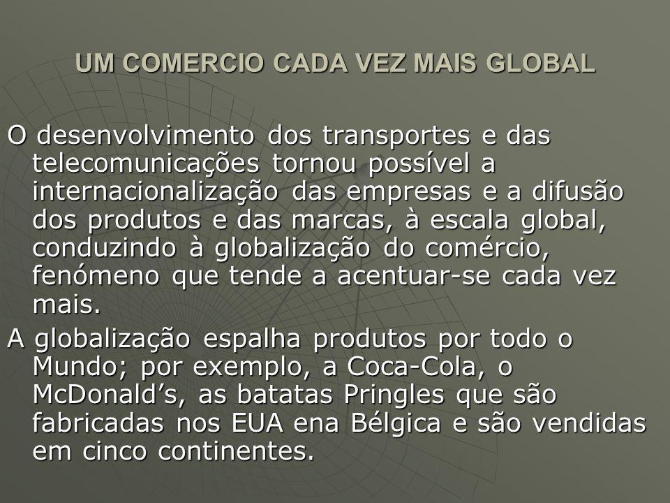 UM COMERCIO CADA VEZ MAIS GLOBAL