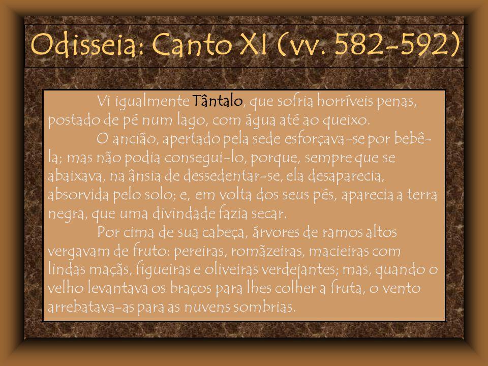 Odisseia: Canto XI (vv. 582-592)
