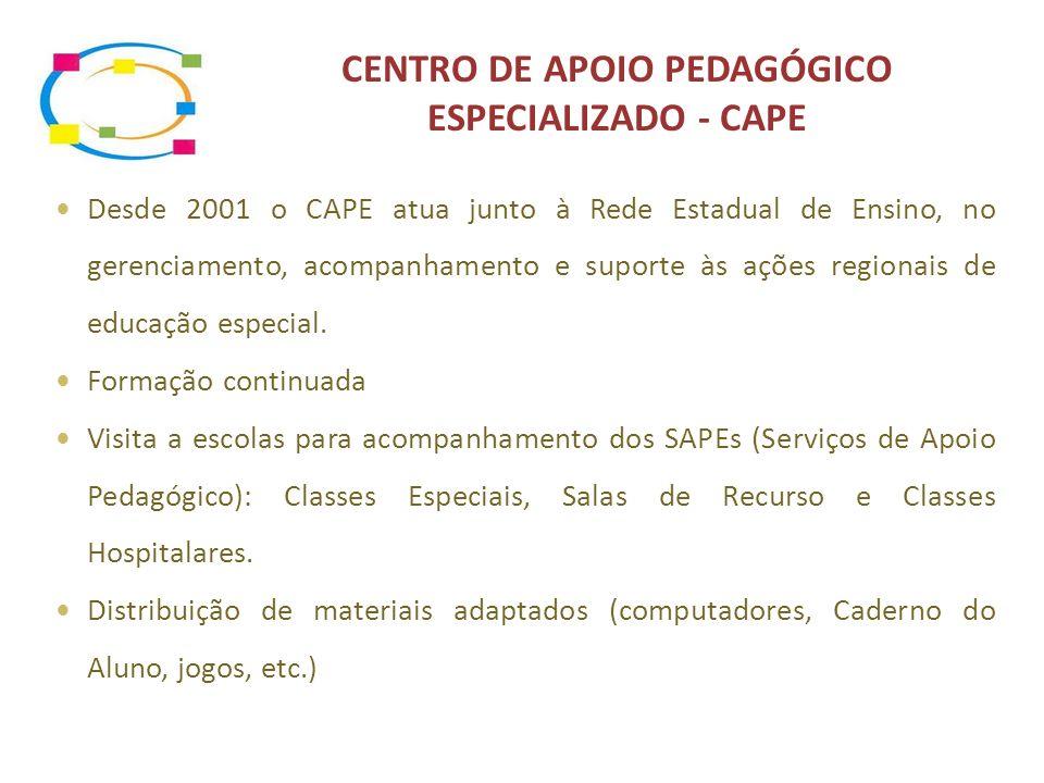 CENTRO DE APOIO PEDAGÓGICO ESPECIALIZADO - CAPE