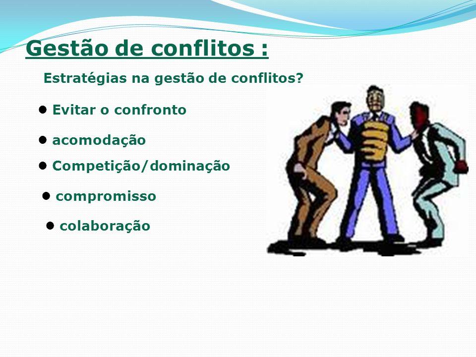 Estratégias na gestão de conflitos